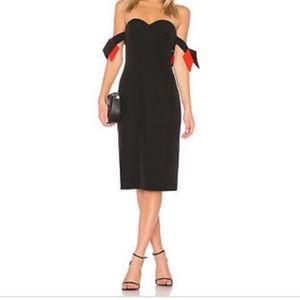 Milly Dresses - Milly brit black off the shoulder sheath dress